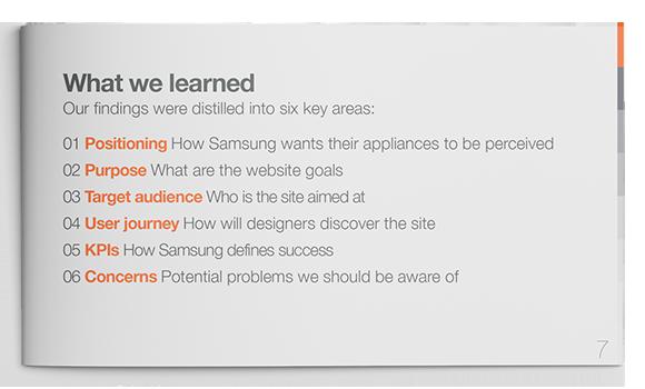 Samsung Designer Community Findings